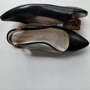 BCBGeneration flat sling sandals black 7.5